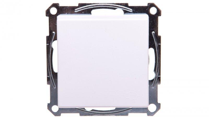 Merten System M Gniazdo pojedyncze z/u 16A IP20 z przesłonami i klapką białe MTN2510-0325