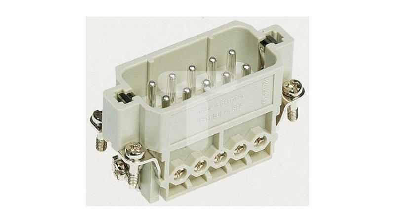 Złącze śrubowe (wkład) (0,75-2,5 mm2) 10+PE męskie 250V 16A Han A 09200102612
