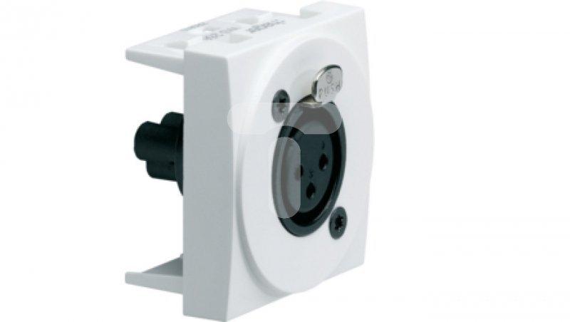 Gniazdo audio XLR żeńskie zaciski śrubowe Systo 2 moduły biały WS266