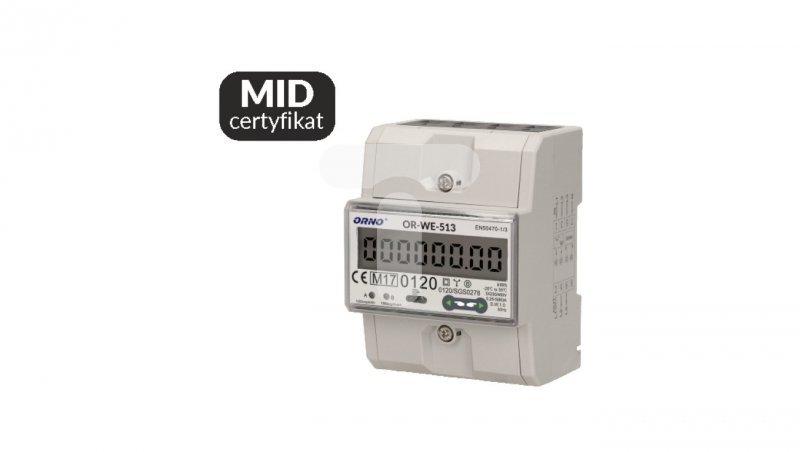 Licznik energii elektrycznej 3-fazowy MID 80A OR-WE-513