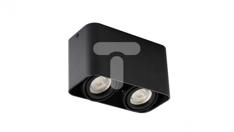 Oprawa nasufitowa punktowa 2x25W GU10 TOLEO DTL250-B czarna 26119