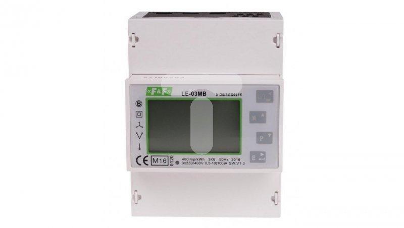 Licznik energii elektrycznej 3-fazowy z wyświetlaczem LCD 100A LE-03MB