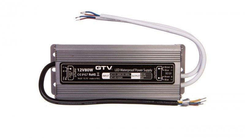 Zasilacz LED wodoodporny 80W IP67 DC 12V LD-WZA80W-NW