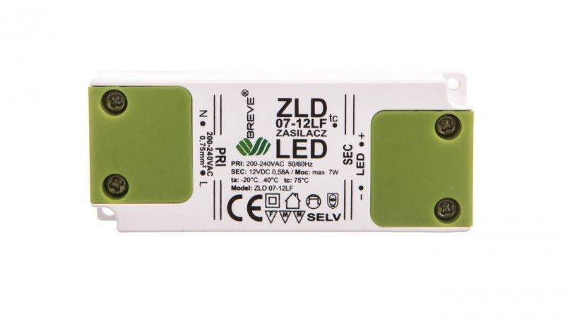 Zasilacz LED 12V DC 7W ZLD 07-12LF 0,58A 19712-9028