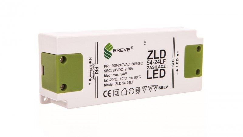 Zasilacz LED 24V DC 54W ZLD54-24LF2,25A 19724-9014