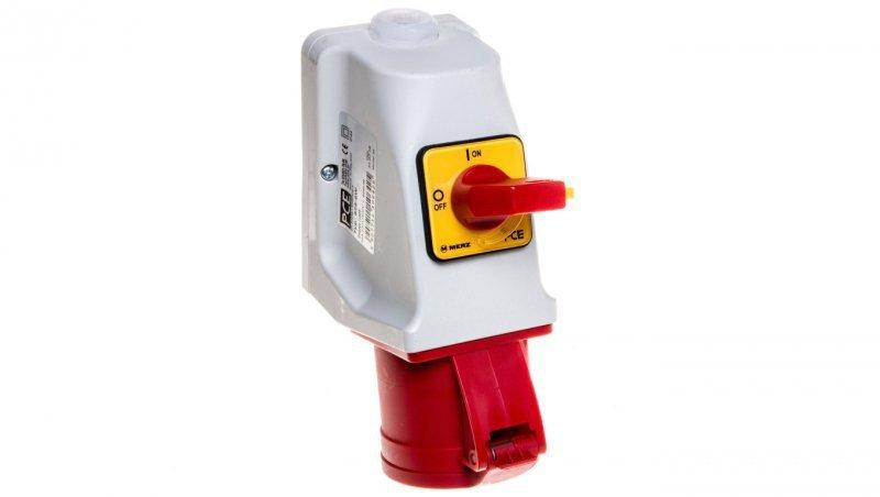 Gniazdo KOMBI z rozłącznikiem 0-1 M25 32A 5P 400V czerwone IP44 925-6w