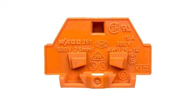 Złączka szynowa 2-przewodowa 2,5mm2 pomarańczowa 261-306 /50szt./