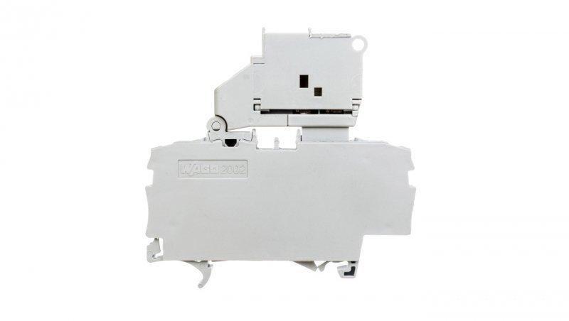 Złączka bezpiecznikowa 2.5mm2 szara 6,3A 5x20mm uchylna podstawa bezpiecznika 2002-1611 TOPJOBS