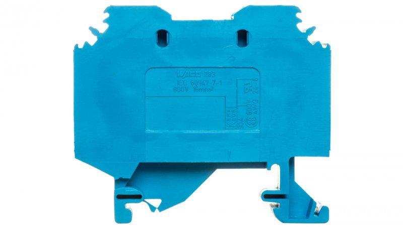 Złączka szynowa 2-przewodowa 16mm2 niebieska 283-104