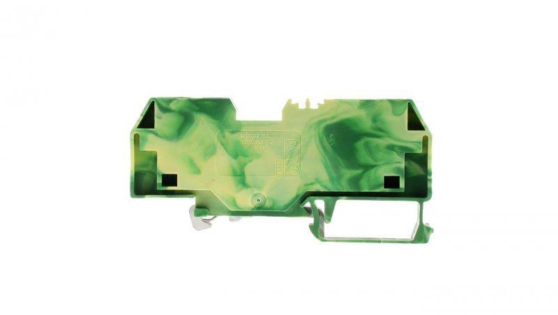 Złączka szynowa PE 2-przewodowa 16mm2 żółto-zielona 283-907