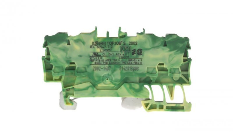 Złączka 4-przewodowa 2,5mm2 żółto-zielona 2002-1407 TOPJOBS