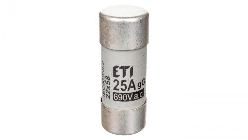 Wkładka bezpiecznikowa cylindryczna 22x58mm 25A gG 690V CH22 002640013