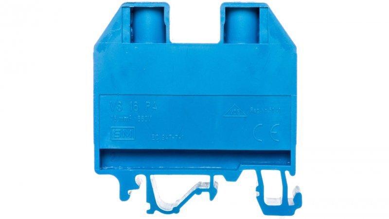 Złączka szynowa gwintowa 16mm2 niebieska VS 16 PA N 003901130