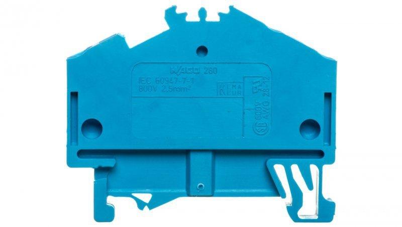 Złączka szynowa 3-przewodowa 2,5mm2 niebieska 280-651