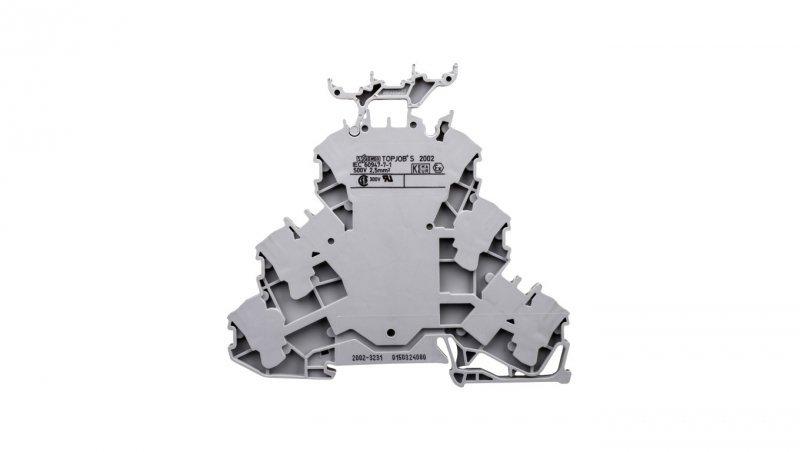 Złączka szynowa 3-piętrowa 2,5mm2 szara L/L/L TOPJOBS 2002-3231