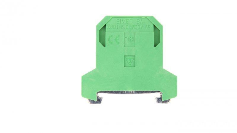 Złączka szynowa ochronna 6mm2 zielono-żółta ZSO 1-6.0 14403319