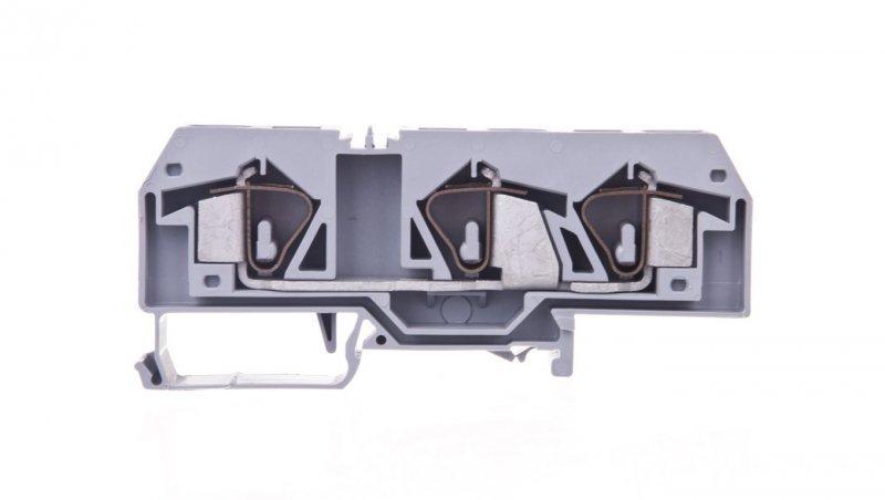 Złączka szynowa 3-przewodowa 16mm2 szara 283-671