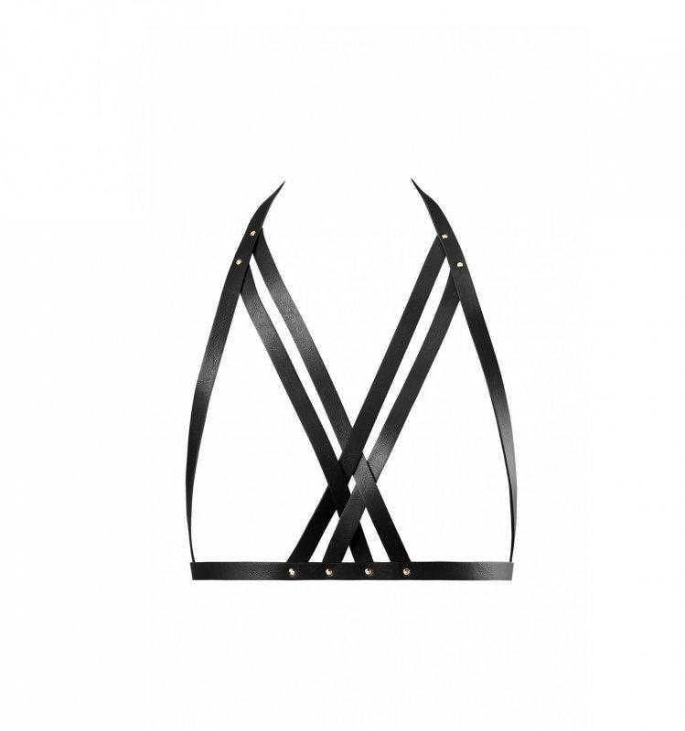 Bijoux Indiscrets - MAZE Halter Bra Harness Black