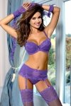 Biustonosz push up Biustonosz Push-up Model V-6321 Lavande Charme de provence Violet  - Axami