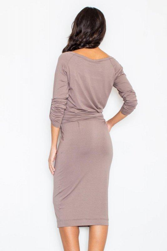 Sukienka Model 246 Brown - Figl