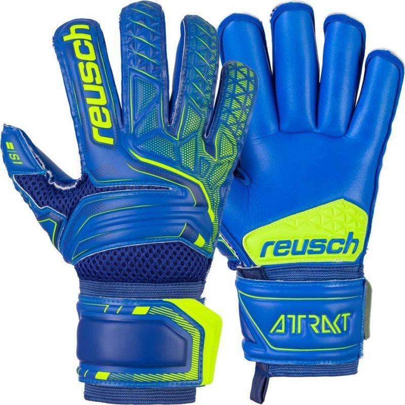 Rękawice bramkarskie Reusch Attrakt S1 Roll Finger Junior 5072217 4949
