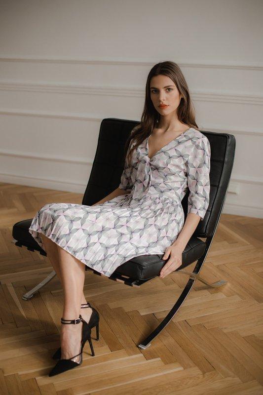 Sukienka L076 Wzór 113 XL