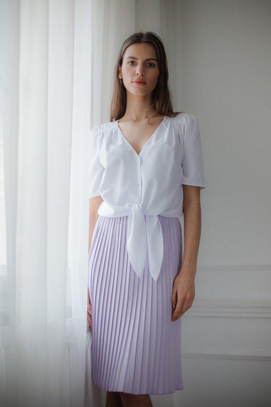 Bluzka L081 Biały S