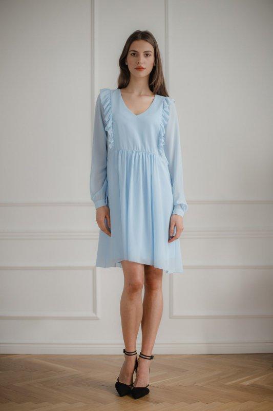 Sukienka L083 Niebieski M