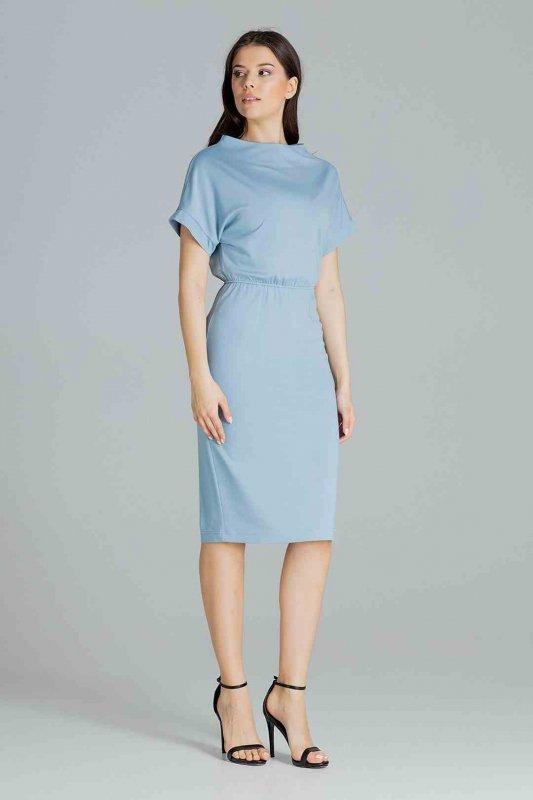 Sukienka L087 Niebieski L