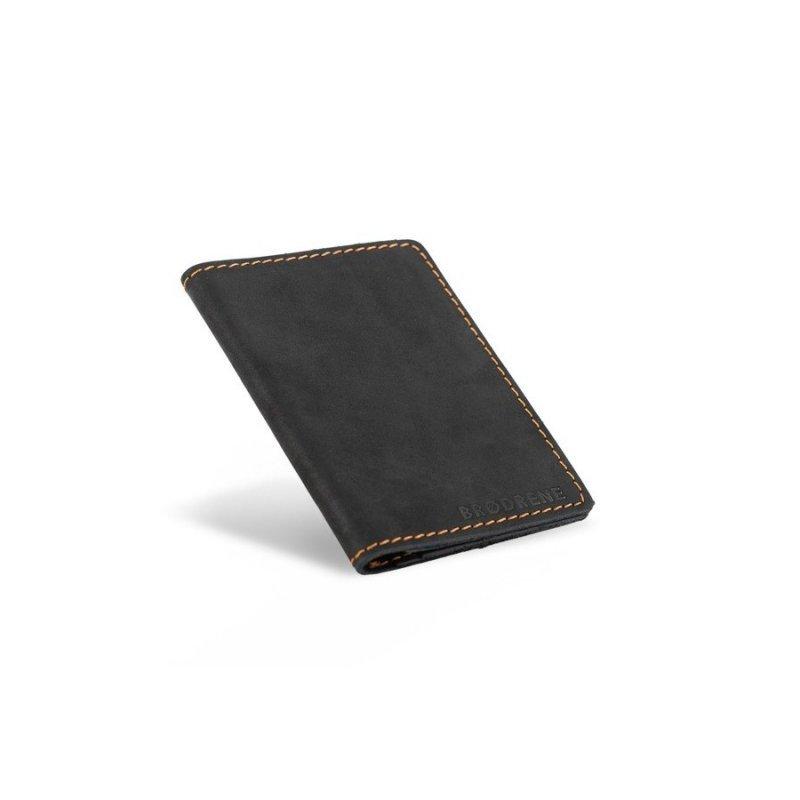 Skórzany cienki portfel slim wallet brødrene czarny
