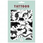 Imprezowy zestaw tatuaży  dla dzieci - Czarne zwierzęta