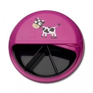 5 komorowy obrotowy pojemnik na przekąski  - fioletowa Krówka