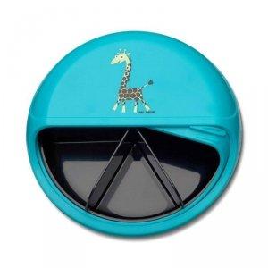 5 komorowy obrotowy pojemnik na przekąski - niebieska Żyrafka