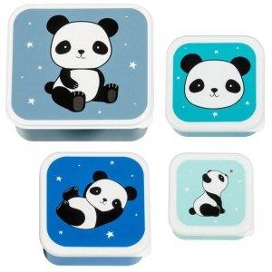 Pudełka na śniadanie - Lunchbox -  Panda zestaw -  4 szt.