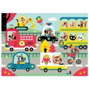 Petit Monkey -  MAXI Puzzle Wesołe zwierzęta - W drodze