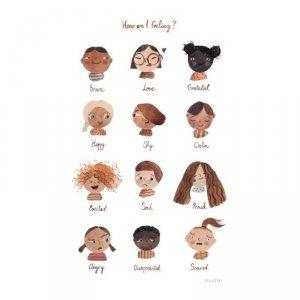 Plakat do pokoju dziecka Uczucia - mały - Mushie
