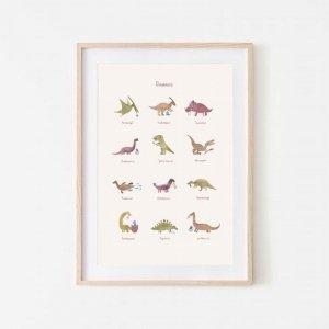 Plakat Dinozaury średni - Mushie