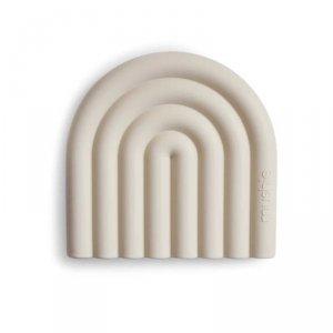 Gryzak silikonowy dla dziecka TĘCZA - Shifting sand - Mushie