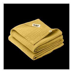 2 pieluszki dla dziecka 100% GOTS organic cotton 70 x 70 Mustard - BIBS