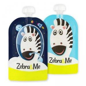Zebra & Me ASTRO - 2 PACK Saszetki do karmienia wielorazowe