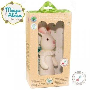 Piszcząca,mięciutka zabawka króliczek