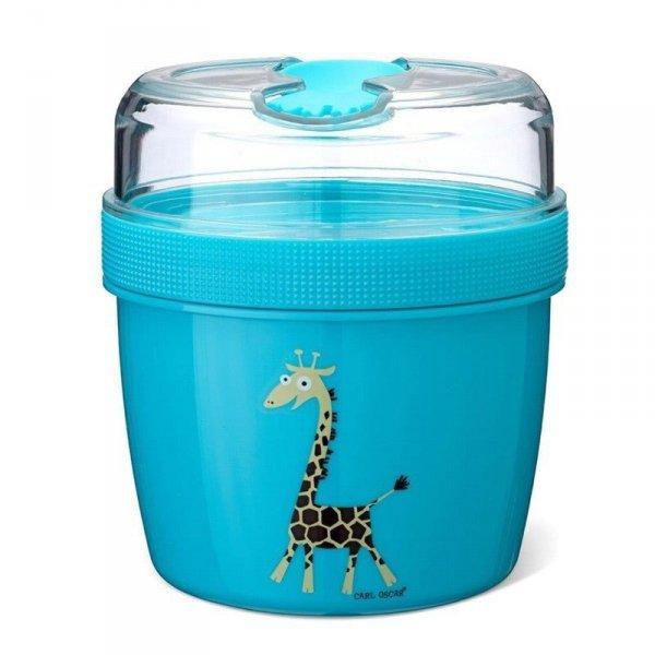 Pojemnik śniadaniowy z wkładem chłodzącym dla dzieci Niebieski - Żyrafka