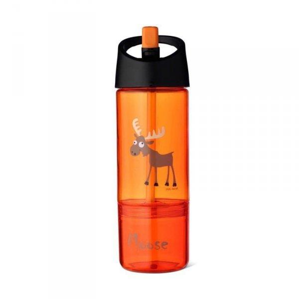 Bidon z pojemnikiem na przekąski 2w1  - Pomarańczowy Łoś