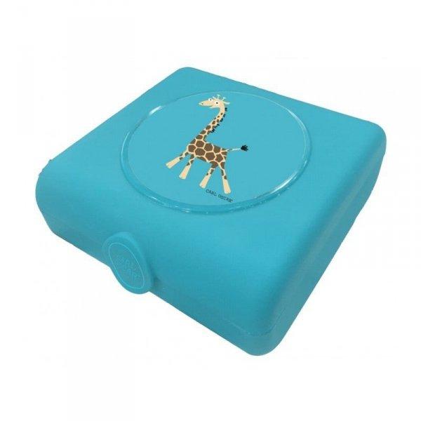 Pojemnik na przekąski i kanapki- Niebieska Żyrafka