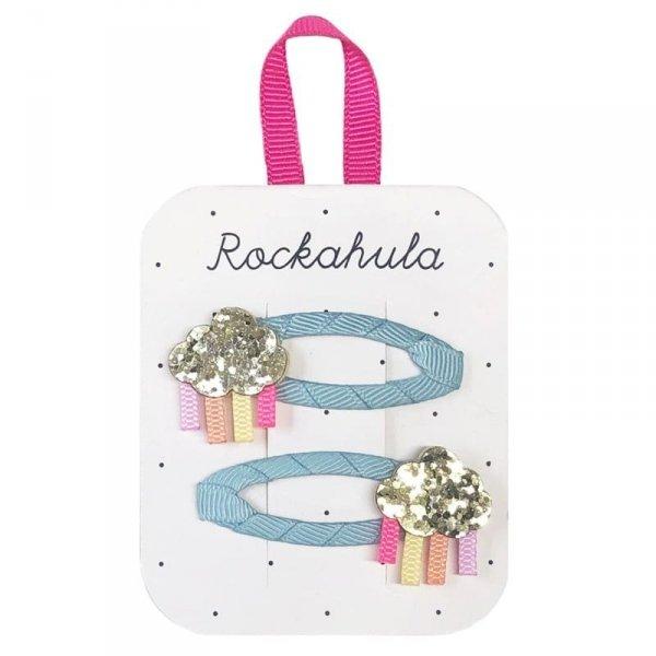 Rockahula Kids - spinki do włosów dla dziewczynki Rainbow Cloud Glitter