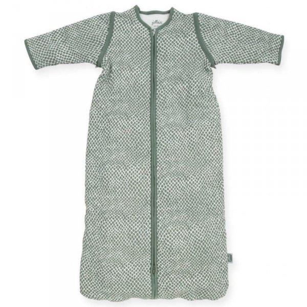 Jollein - Śpiworek niemowlęcy całoroczny 4 pory roku z odpinanymi rękawami Snake ASH GREEN 70 cm