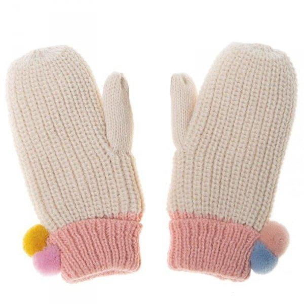 Rękawiczki zimowe dla dziewczynki Dreamy Rainbow Knit Bobble 7 - 10 lat - Rockahula Kids