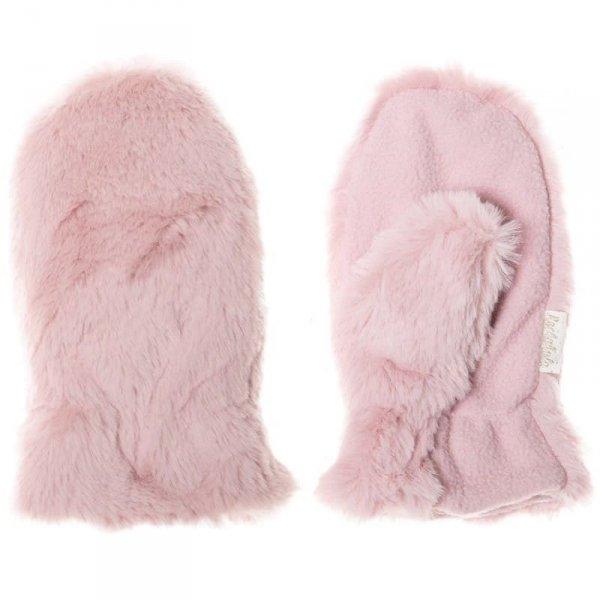 Rękawiczki zimowe futerko dla dziecka MISIU Fur Dusky Pink 7 - 10 lat - Rockahula Kids