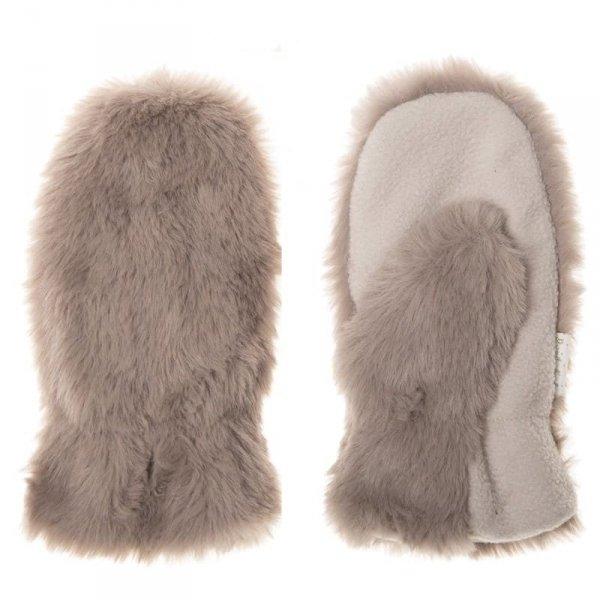 Rękawiczki zimowe dla dziecka futerko BRĄZOWY MISIU 3 - 6 lat - Rockahula Kids