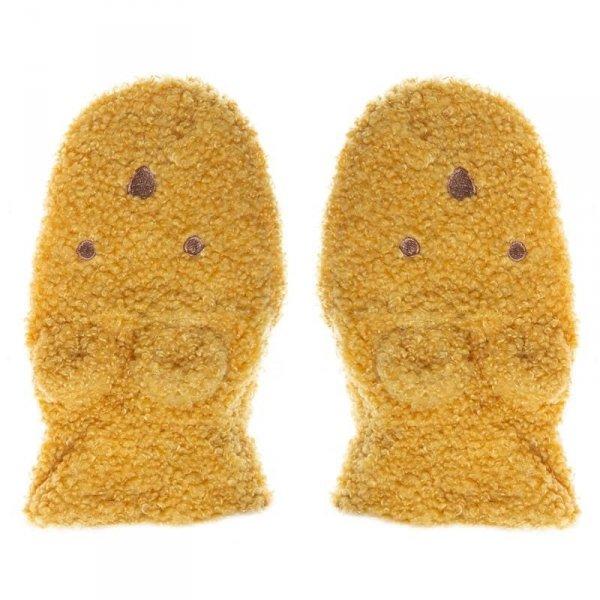Rękawiczki zimowe dla dziecka Billie MISIU Boucle Ochre 3 - 6 lat - Rockahula Kids
